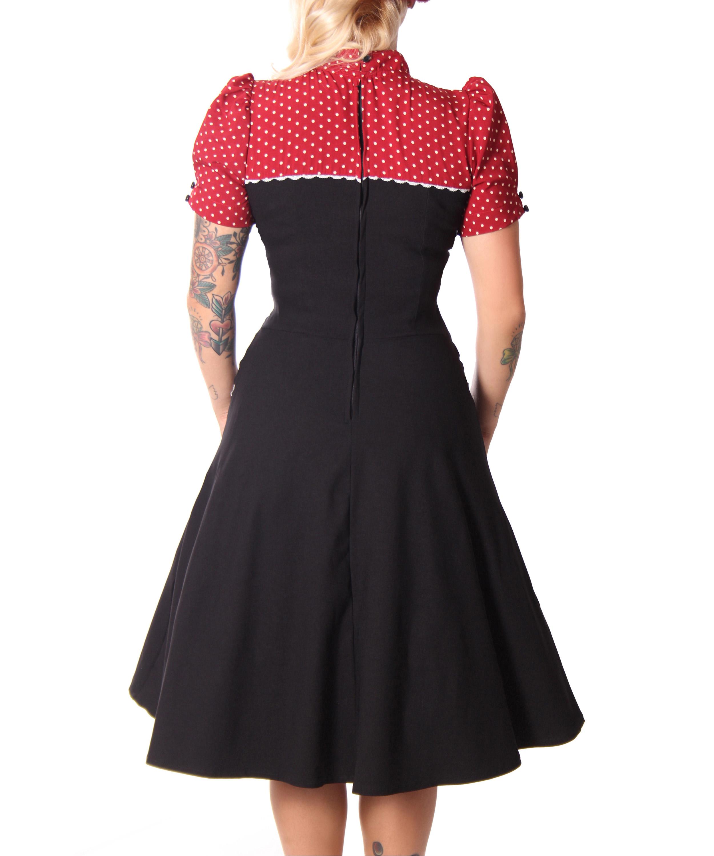 neyla 50er retro polka dots swing petticoat kleid v. Black Bedroom Furniture Sets. Home Design Ideas