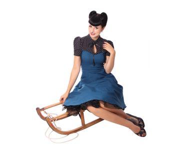 Neyla 50er retro Polka Dots Swing Petticoat Kleid v. SugarShock – Bild 16