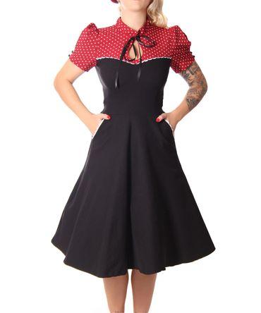 Neyla 50er retro Polka Dots Swing Petticoat Kleid v. SugarShock – Bild 6