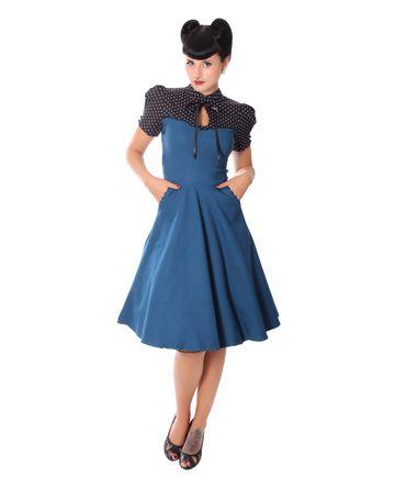 Neyla 50er retro Polka Dots Swing Petticoat Kleid v. SugarShock – Bild 12