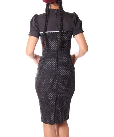 Tasmina 50s retro Peephole Polka Dots Pencil Kleid v. SugarShock – Bild 6