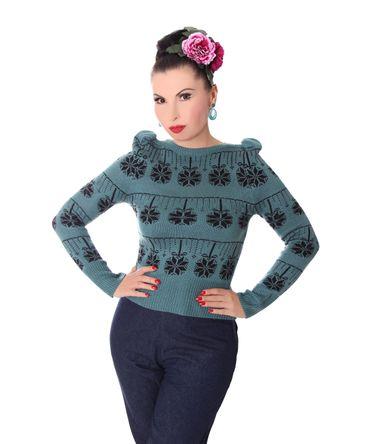 40er retro Melika Christmas Strick Pullover Jumper Weihnachtspulli v. SugarShock – Bild 2