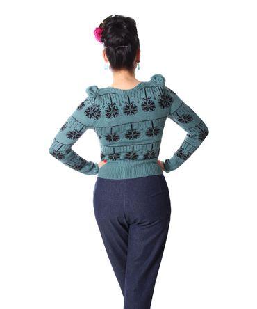 40er retro Melika Christmas Strick Pullover Jumper Weihnachtspulli v. SugarShock – Bild 7