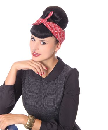50s Frisuren Anker Sailor retro Nickituch Hairband Haar Tuch Bandana v. SugarShock – Bild 7