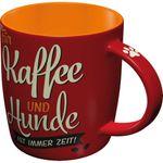 PfotenSchild Kaffee und Hunde Rockabilly retro Tasse v. Nostalgic Art 001