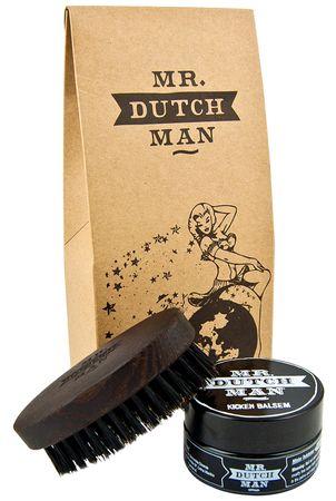 Mr. Dutchman Beard Brush & Kicken Balsam Bartpflege Set