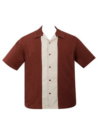 Panel Loungeshirt Saddle Stitch Casino Shirt Herren Hemd v. Rock Steady Clothing