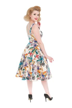 Tropical Hawaii Flower Swing Petticoat Kleid v. Hearts & Roses – Bild 2