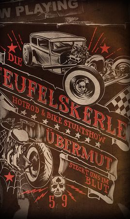 Teufelskerle Hot Rod Poster v. Rumble59
