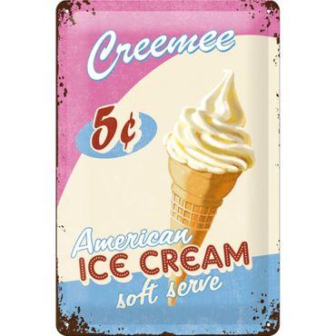 Nostalgic Art Ice Cream USA 50er retro Liebhaber Blechschild