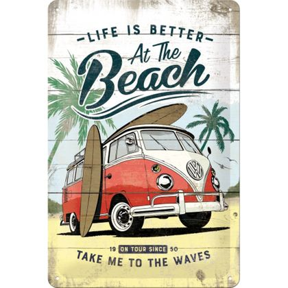 Nostalgic Art VW Bulli - Beach retro Blechschild