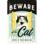 Nostalgic Art Beware of the Cat retro Katzen Blechschild 001