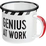 Genius at Work Rockabilly retro Emaille Becher Tasse v. Nostalgic Art 001
