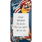 American Diner Waitress retro Notizblock Schild v. Nostalgic Art