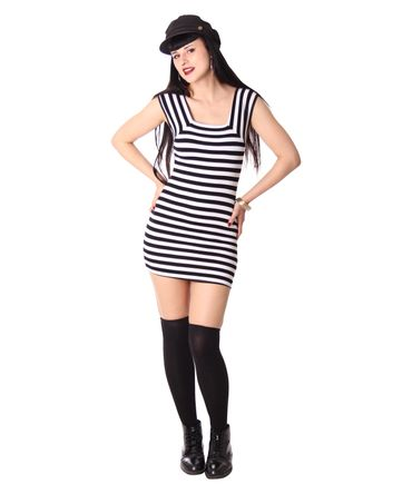 Elin 50s retro Pin Up Minikleid Longshirt v. SugarShock – Bild 9