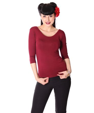 Liora 50s retro Pin Up Longsleeve uni  – Bild 8