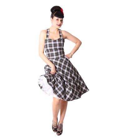 Zoja 50er retro Tartan Träger Latzkleid Petticoat Kleid v. SugarShock – Bild 3