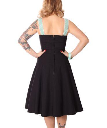 Kahira 50er retro Polka Dots Träger Petticoat Kleid v. SugarShock – Bild 5