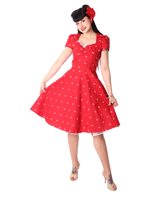 Tanisha Herzchen 50er Retro Petticoat Kleid V Sugarshock Frauen Kleider