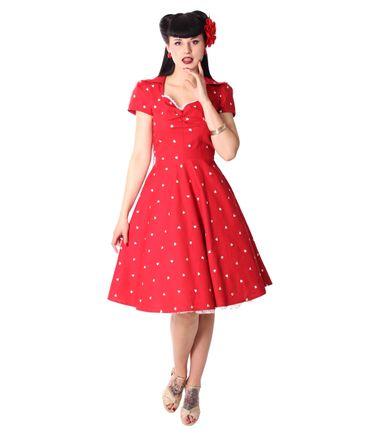 Tanisha Herzchen 50er retro Petticoat Kleid v. SugarShock – Bild 2