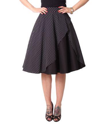 Keslia 50s retro Polka Dots Tellerrock Petticoat Rock 2-lagig v. SugarShock – Bild 4