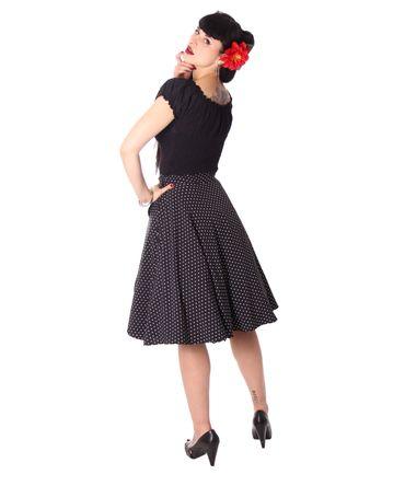Keslia 50s retro Polka Dots Tellerrock Petticoat Rock 2-lagig v. SugarShock – Bild 7