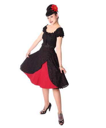 Keslia 50s retro 2-tone Leo Tellerrock Petticoat Rock v. SugarShock – Bild 1