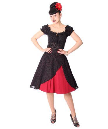 Keslia 50s retro 2-tone Leo Tellerrock Petticoat Rock v. SugarShock – Bild 3