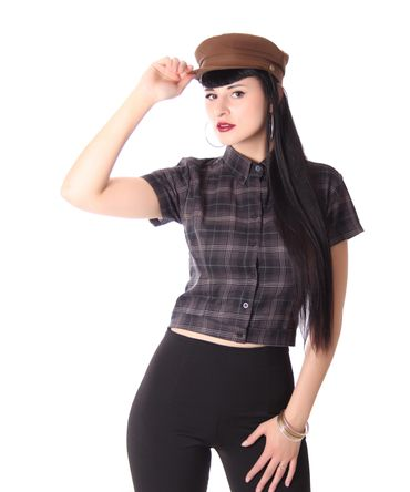 Palia retro style Tartan Bluse Damen Karo Hemd v. SugarShock – Bild 18