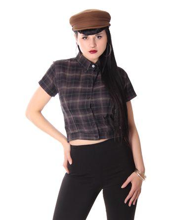 Palia retro style Tartan Bluse Damen Karo Hemd v. SugarShock – Bild 11