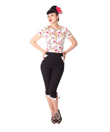 Latisha 50s High Waist Hawaii Caprihose 3/4 Hose v. SugarShock – Bild 5