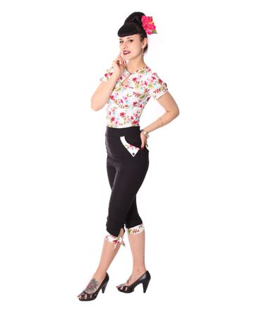 Latisha 50s High Waist Hawaii Caprihose 3/4 Hose v. SugarShock