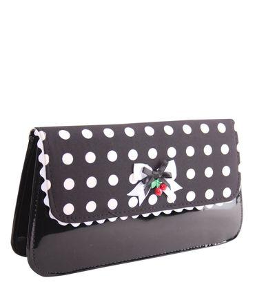 Venia 50s retro Polka Dots Handtasche Clutch Tasche v. SugarShock – Bild 3