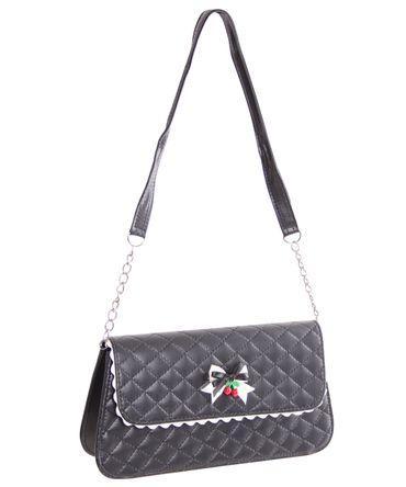 Venia retro Handtasche Clutch Tasche gesteppt v. SugarShock – Bild 1