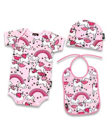 Six Bunnies Einhorn Baby Body Strampler Geschenkset Gift Set – Bild 2