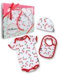 Six Bunnies Kirschen Baby Body Strampler Geschenkset Cherry Gift Set 001