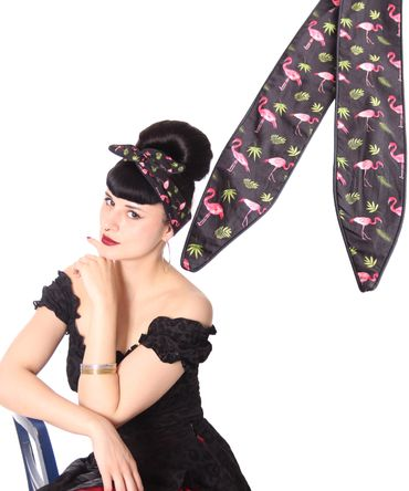 SugarShock Mandisa Flamingo Haarband Hairband 50s Frisuren Haarreif – Bild 4