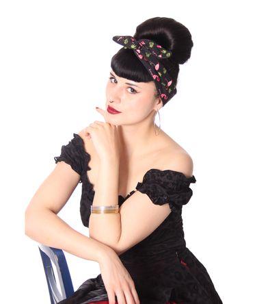 SugarShock Mandisa Flamingo Haarband Hairband 50s Frisuren Haarreif – Bild 3