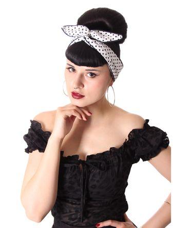 SugarShock Mandisa Polka Dots Haarband Hairband 50s Frisuren Haarreif – Bild 4