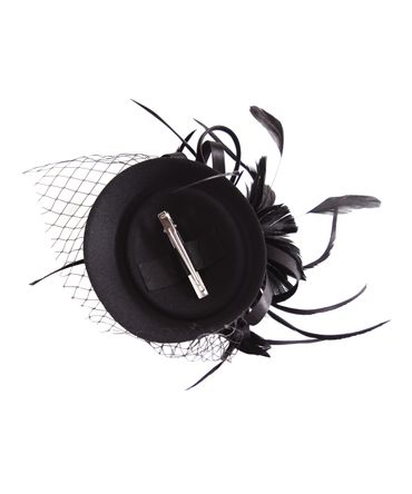Burlesque Headpiece Fascinator Pillbox retro Mini Hut Haarschmuck – Bild 4