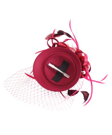 Burlesque Headpiece Fascinator Pillbox retro Mini Hut Haarschmuck – Bild 9