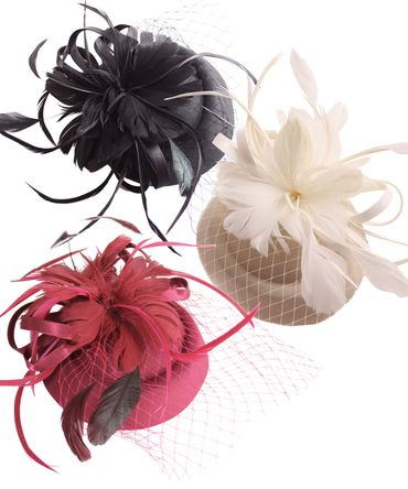 Burlesque Headpiece Fascinator Pillbox retro Mini Hut Haarschmuck – Bild 1
