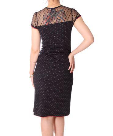 Cariba 50s retro Polka Dots Shirt Kleid mit Tülleinsatz v. SugarShock – Bild 5