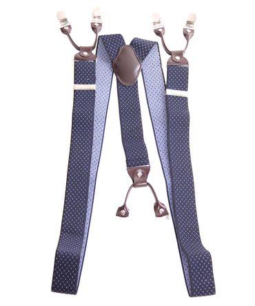 Unisex retro Argyle Hosenträger Suspenders m. Y-Schlaufe Clips