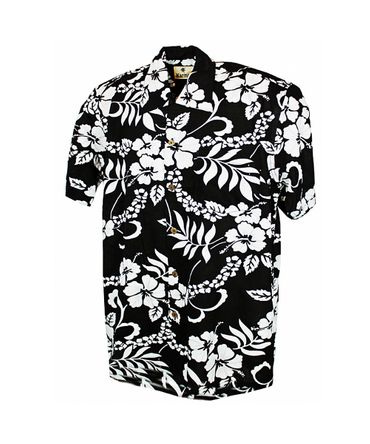 Karmakula retro Hibiskus Hawaii Flower Blätter Hemd Hawaiian Shirt  – Bild 3
