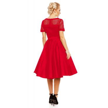 50s retro Lace Swing Petticoat kurzarm Kleid v. Dolly and Dotty – Bild 3