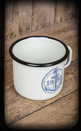 Emaille Drop my Anchor Kaffebecher Tasse v. Rumble59 – Bild 2