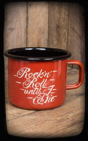 Emaille Rock n Roll until I die Kaffebecher Tasse v. Rumble59 – Bild 1
