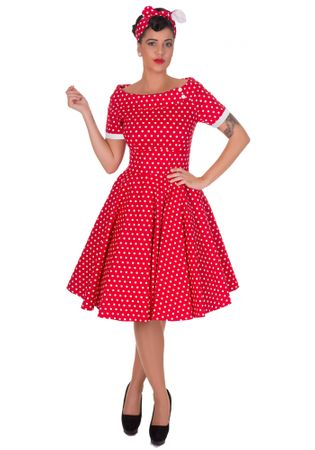 Darlene 50s retro Polka Dots Petticoat Carmen Kleid v. Dolly and Dotty