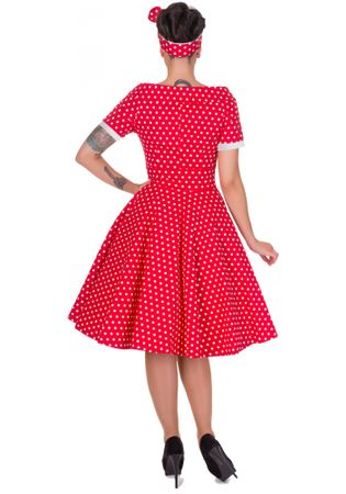 Darlene 50s retro Polka Dots Petticoat Carmen Kleid v. Dolly and Dotty – Bild 2
